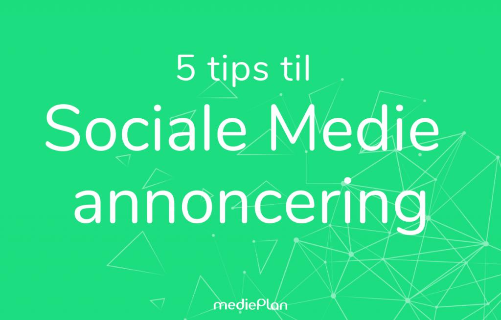 sociale medie annoncering
